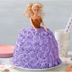 Rose Barbie Doll cake 2kg
