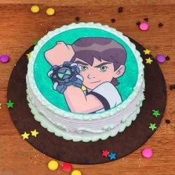 Butter Scotch Designer Cake Half Kg