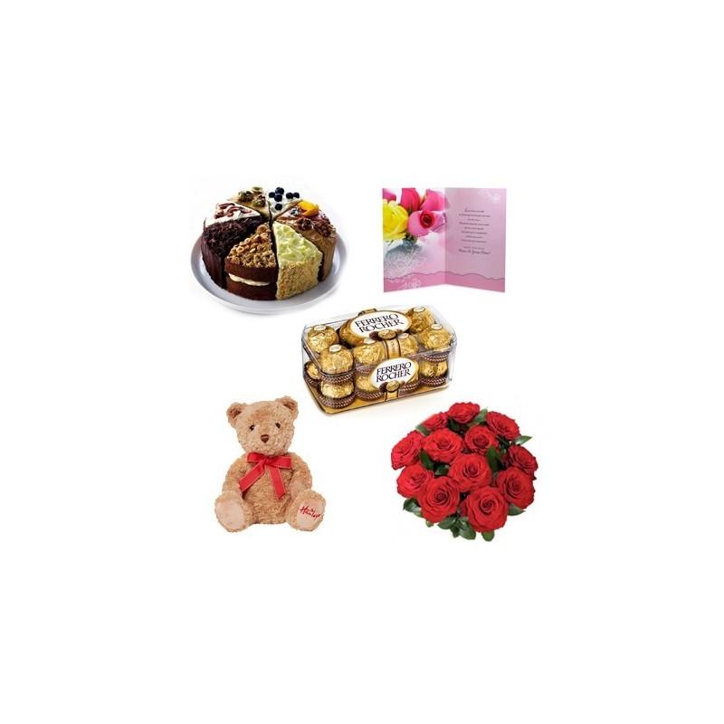 Flower cake chocolate