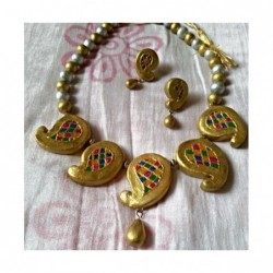 Violet teracotta jewellery