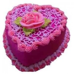500g cake, with Roses in a bunch, Teddy bear