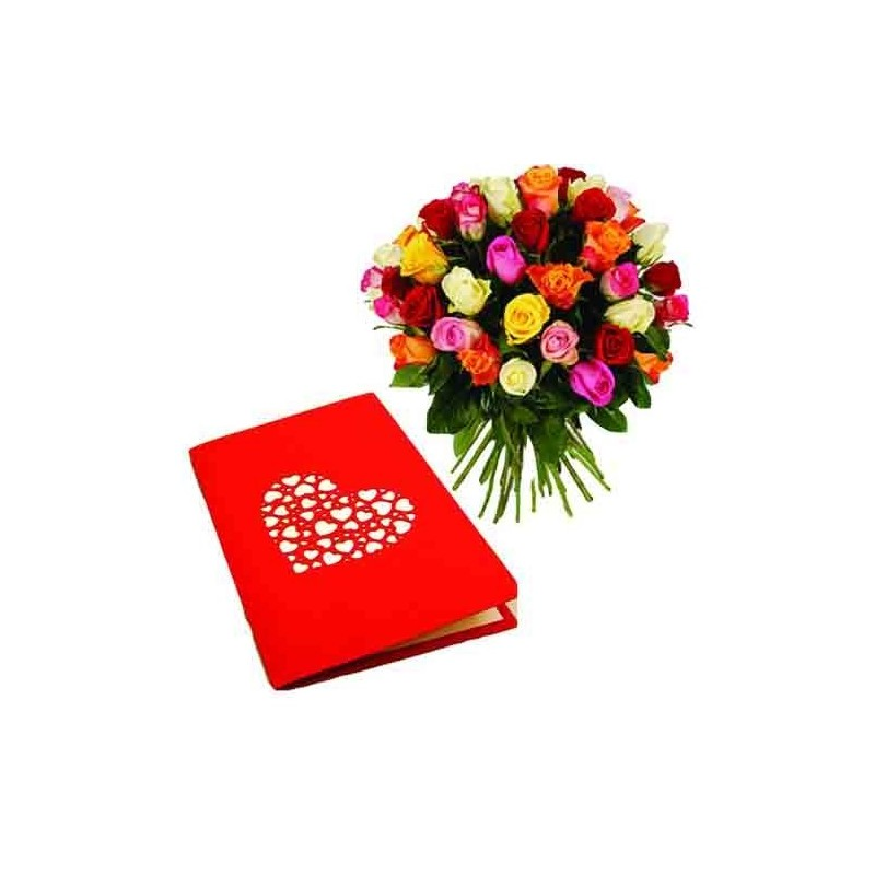 Diwali Special Roses in Vase