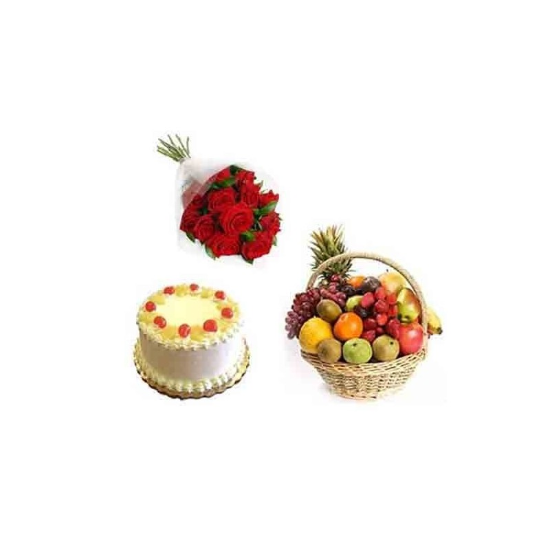 Sweets and Rocher Chocolates with Dry Fruits Diwali Hamper