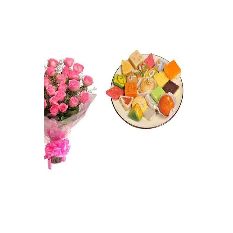 Diwali Hamper of Fire Cracker with Dryfruits and Fresh Flowers
