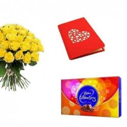 Yellow Mother with Baby Teddy Bear- 45 cm